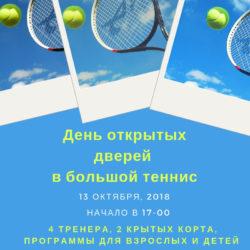 Открытый урок по большому теннису