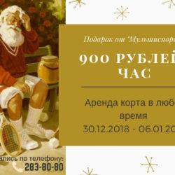 "Новогодние подарки от ""Мультиспорт"""